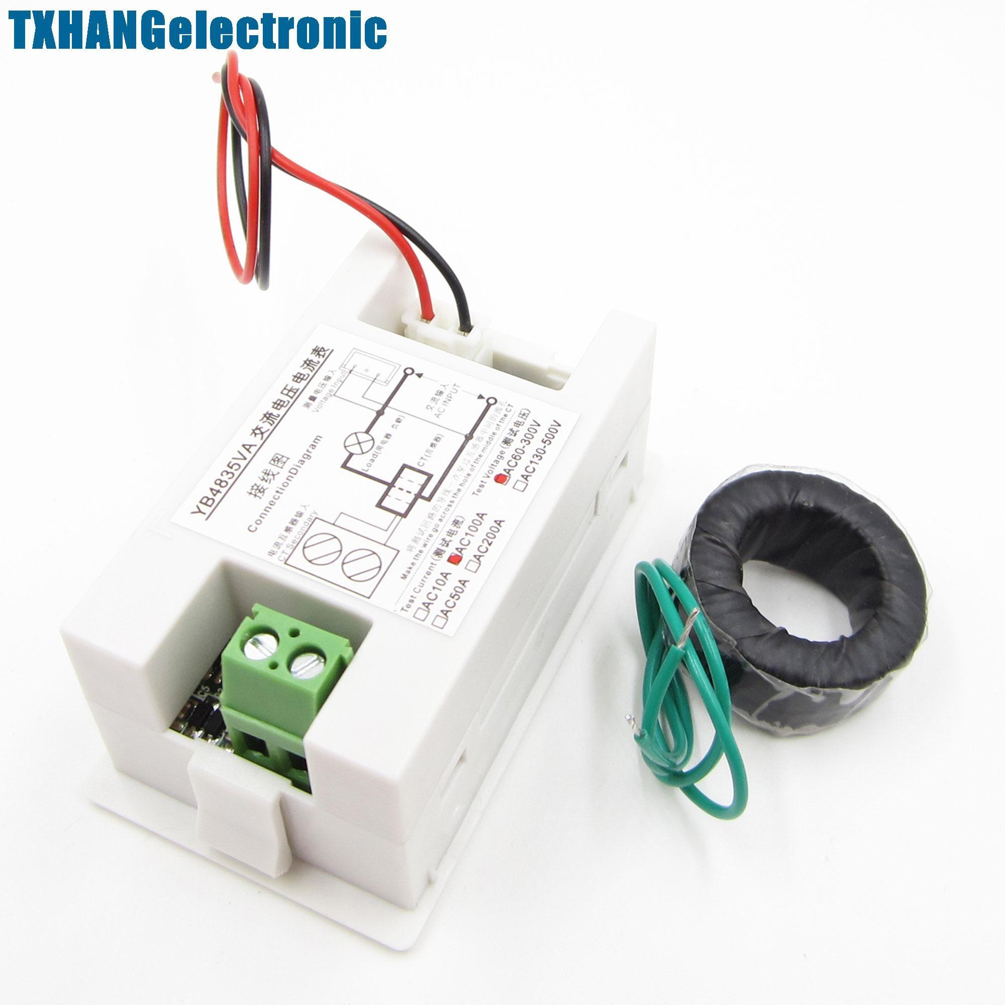 Digital Ammeter Voltmeter LCD Panel Amp Volt Meter AC 100A 300V 110V