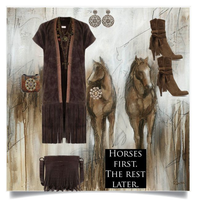 """Horses First"" by shoecraycray ❤ liked on Polyvore featuring Ballard Designs, Talitha, Chloé, Nancy Gonzalez, Bavna, Matthew Campbell Laurenza, Petralux and Les Bernard"