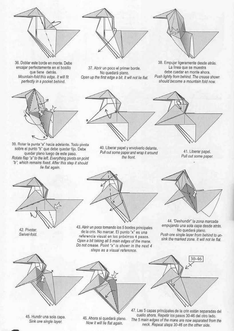 unicorn origami paper origami guide
