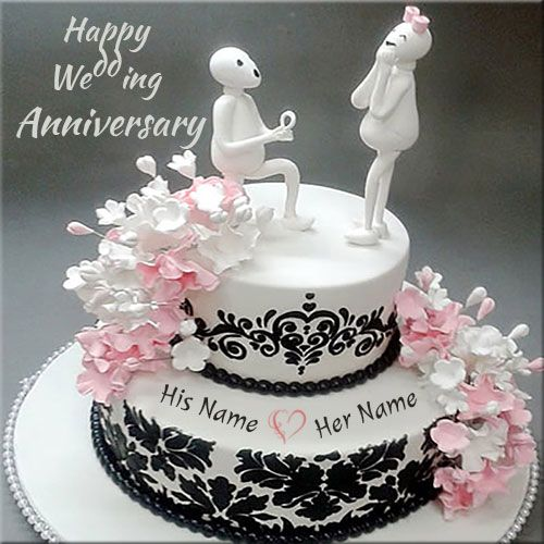 Happy Anniversary Cake Wi Happy Marriage Anniversary Cake Happy