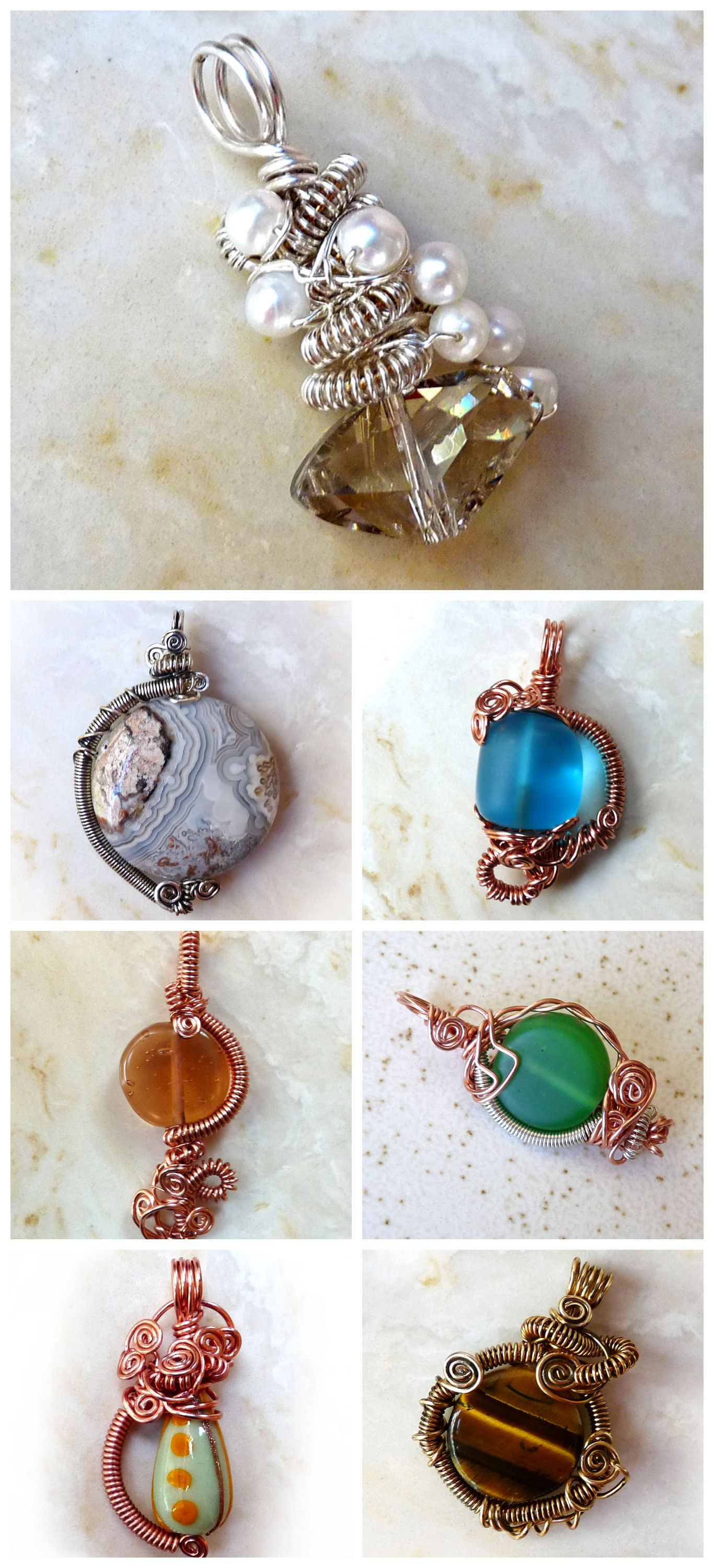 Wire Wrapped Bead Pendant | Wire wrapping, Wraps and Pendants