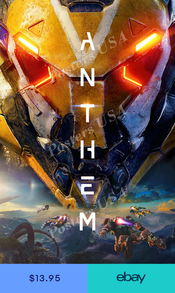 RGC Huge Poster Anthem PS4 XBOX ONE Glossy FINISH