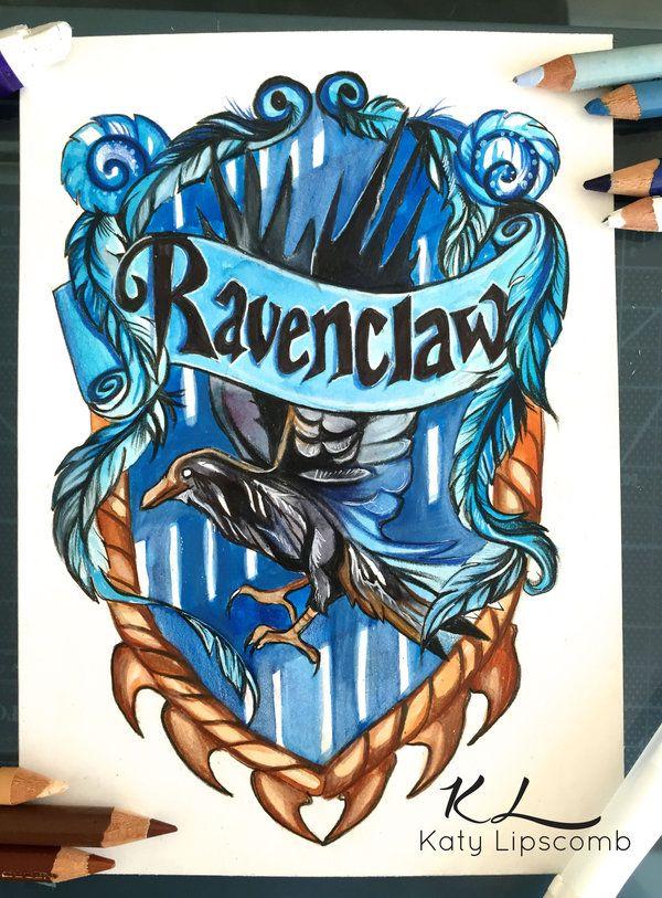 Ravenclaw By Lucky978.deviantart.com On @DeviantArt    Hogwarts House Crests  By Katy Lipscomb