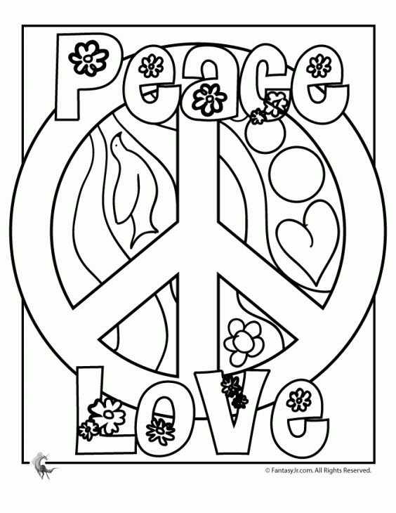 Free Peace Sign Coloring Page For Older Kids Letscolorit Com Love Coloring Pages Flower Coloring Pages Printable Flower Coloring Pages