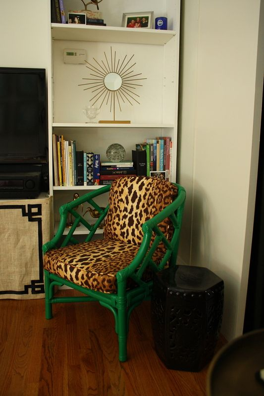 Cute chair, would of done red with it instead of green