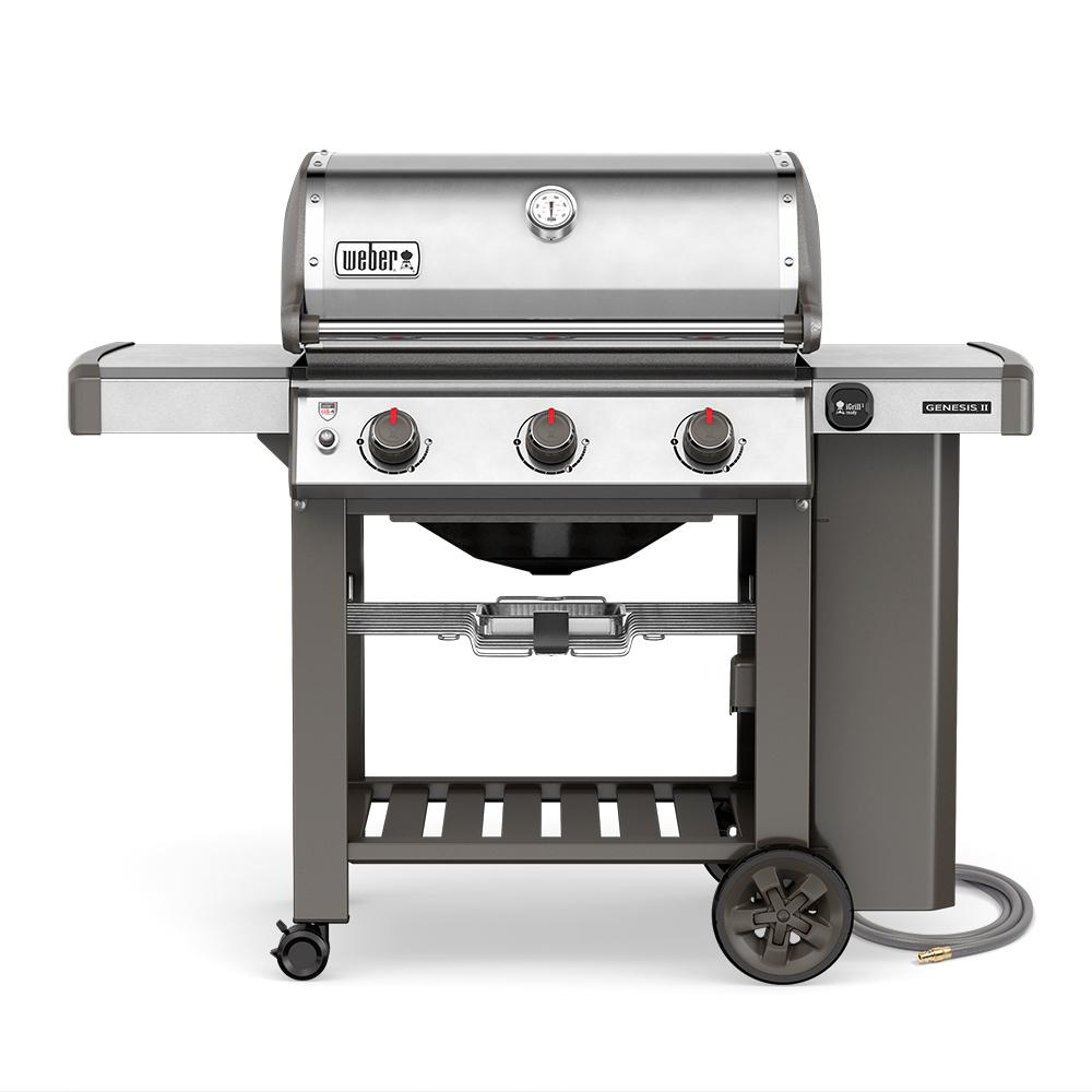Weber Spirit E 320 3 Burner Propane Gas Grill In Black 46710001 At The Home Depot Weber Gas Grills Gas Grill Reviews Propane Gas Grill