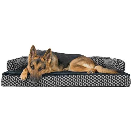 Furhaven Pet Dog Bed Orthopedic Plush Decor Comfy Couch Sofa Sale Beds And Furniture Shop Petsep Com Dog Pet Beds Rectangular Dog Bed Orthopedic Dog Bed
