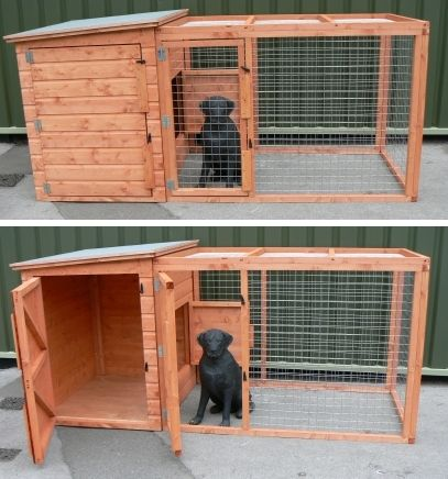 Wooden Dog Kennels And Runs The Kimberly Dog Kennel And Run