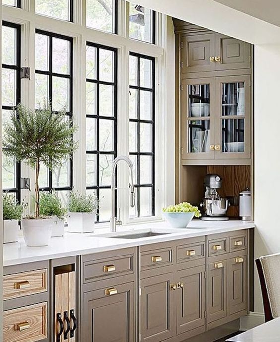44 Lovely Farmhouse Kitchen Cabinets Remodel Ideas - Kitchen cabinet colors, Kitchen cabinets, Kitchen renovation, Wood kitchen cabinets, Kitchen marble, New kitchen cabinets - Stainless steel also comes in a wide range of prices  Concentrate on the hardware Even if you get your house brand new, odds are the knobs, pulls, and towel racks are wholly brushed nickel  The out…