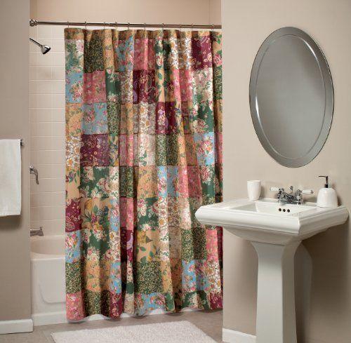 Shower Bath Bathroom Greenland Home Antique Chic Patchwork Curtain