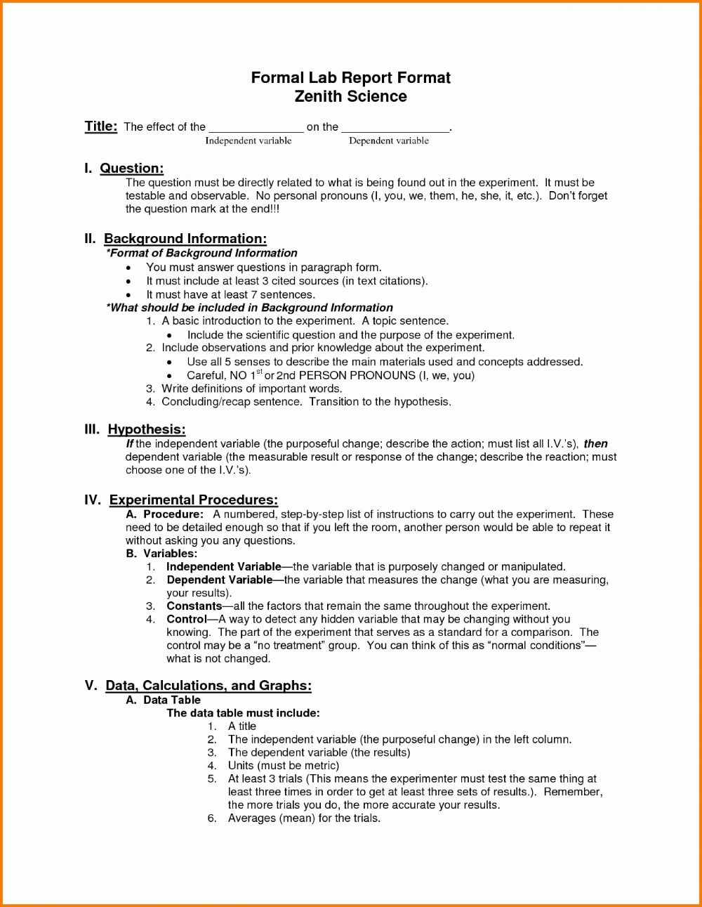 Template Ideas Science Lab Report Unique Fresh Formal Outline With