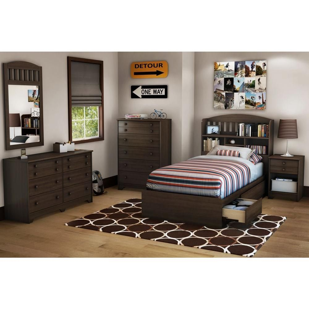 South shore popular twin storage bed the home depot