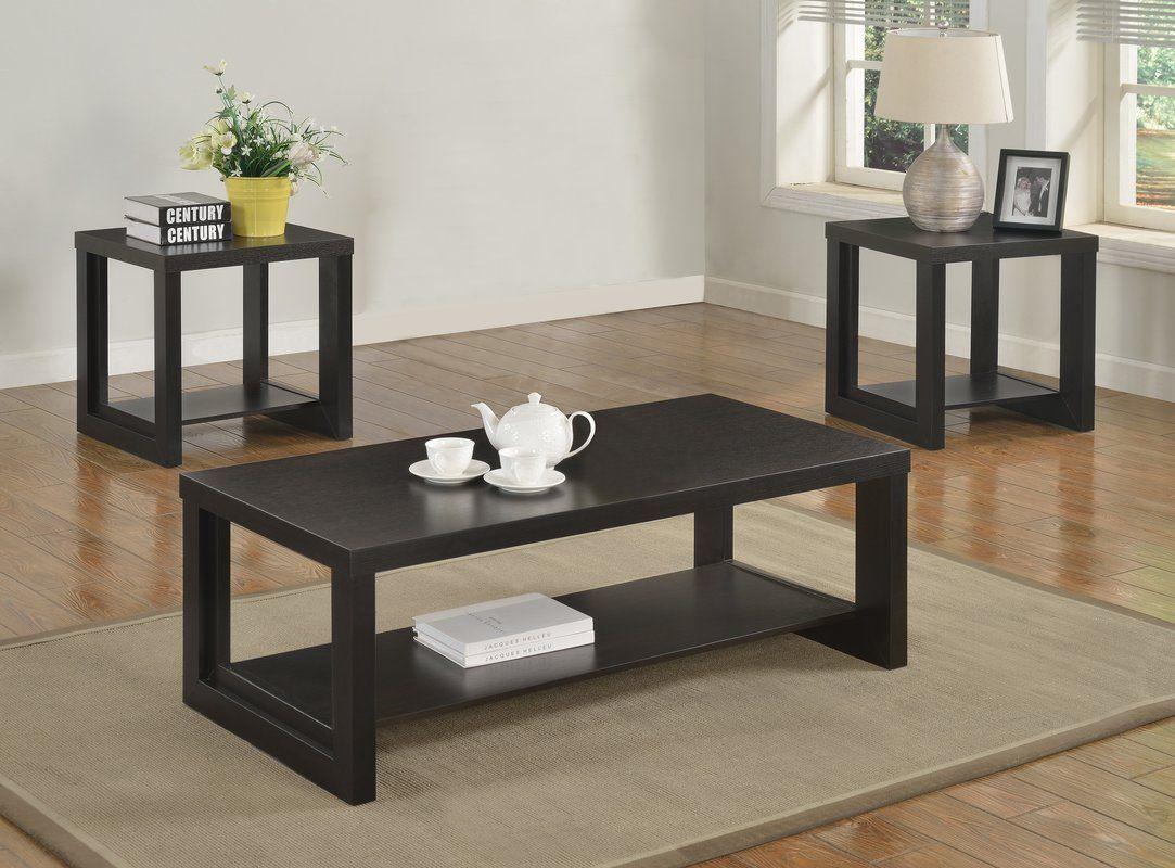 Audra 3 Piece Coffee Table Set 3 Piece Coffee Table Set Solid Wood Coffee Table Coffee Table Wood [ 800 x 1083 Pixel ]