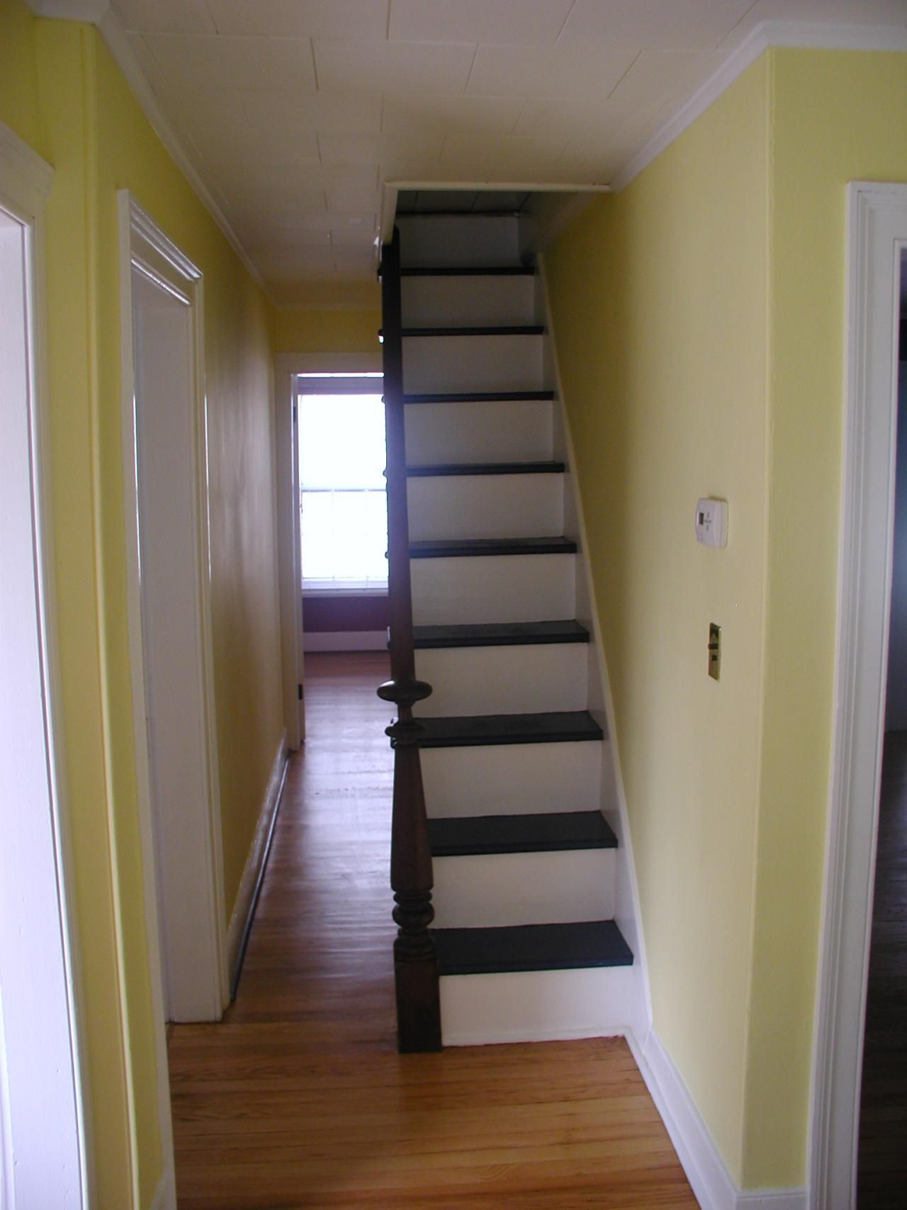 Staircase for small spaces home small footprint staircases pinterest attic attic stairs - Small space staircase image ...