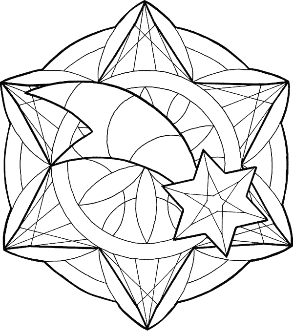 Mandala Christmas Coloring Pages