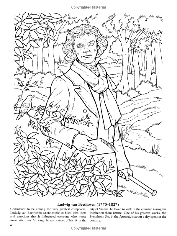 Great Composers (Dover History Coloring Book): Amazon.co.uk: Paul ...