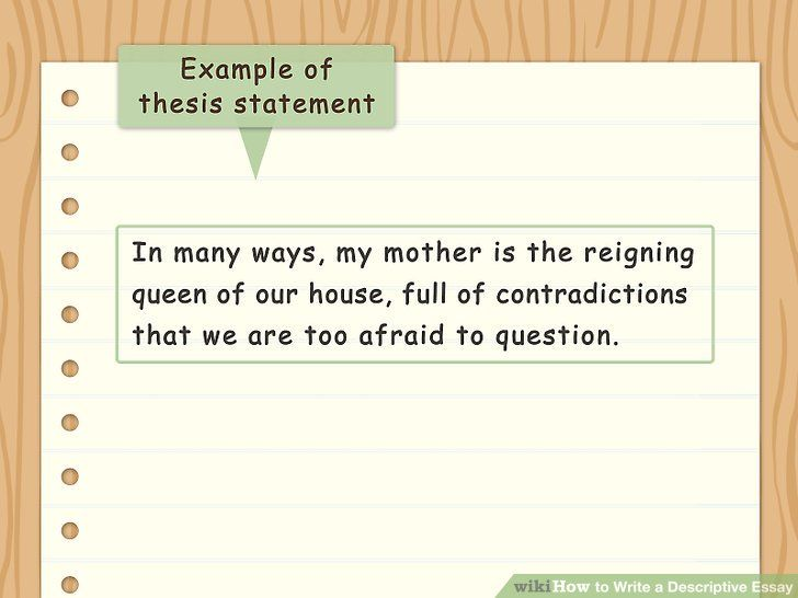 Thesis Statement Descriptive Essay Examples Of Descriptive Writing Essay Writing Examples Essay
