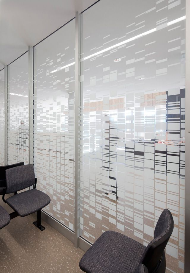 Windod Frosting With Squares Office Wall Graphic Inspiration