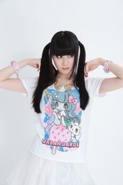 Yurie Sekiya x Japanese band Urbangarde  urbangarde:  【urbangarde】http://urbangarde.net/SHOP: http://tkbros.shop-pro.jp/ アーバンギャルド×せきやゆりえコラボTシャツ(WHITE)