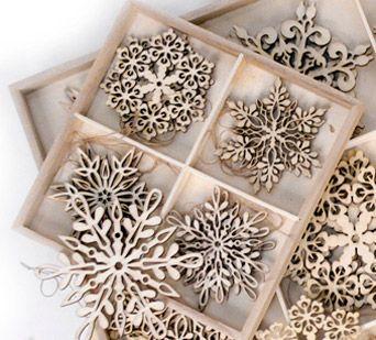 Wood cut ornaments. Beautiful!!