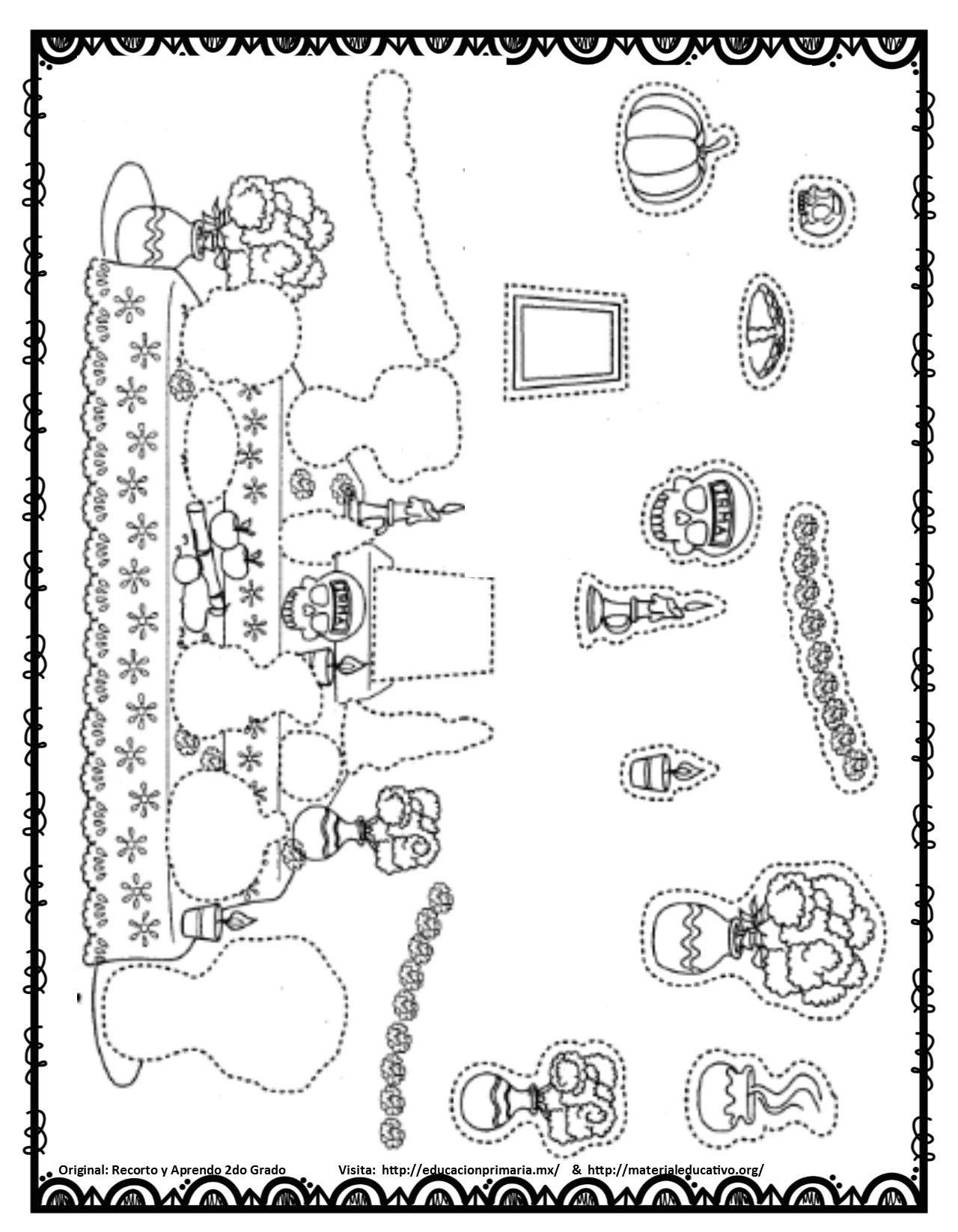 Dia D Muertos Actividades Dia De Muertos Altar De Muertos Dibujo Dibujo Dia De Muertos