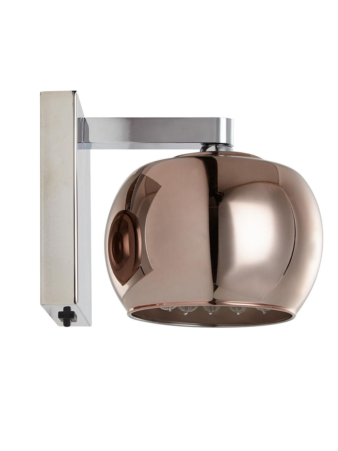 d70332e305a7 John Lewis & Partners Stella Glass Wall Light, Copper at John Lewis &  Partners