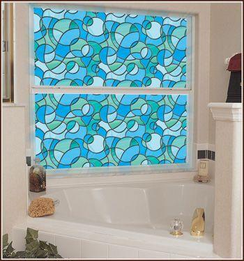 Odyssey Stained Glass Window Film Privacy Home Sweet Pineapple