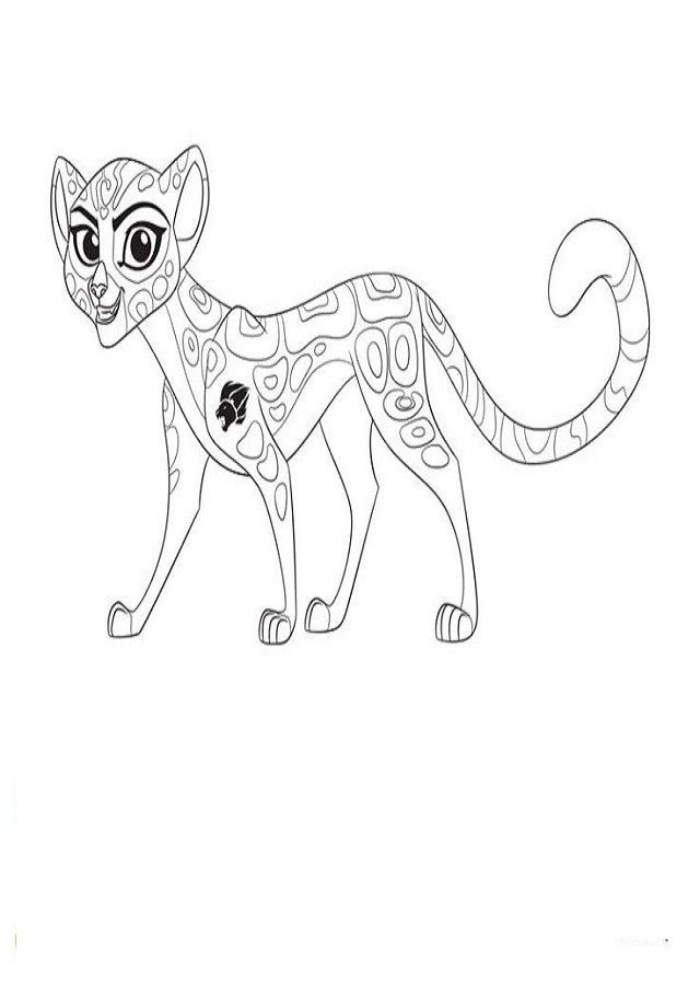 Best Lion Guard Coloring Pages Of Kion Bunga Fuli Ono And Beshte