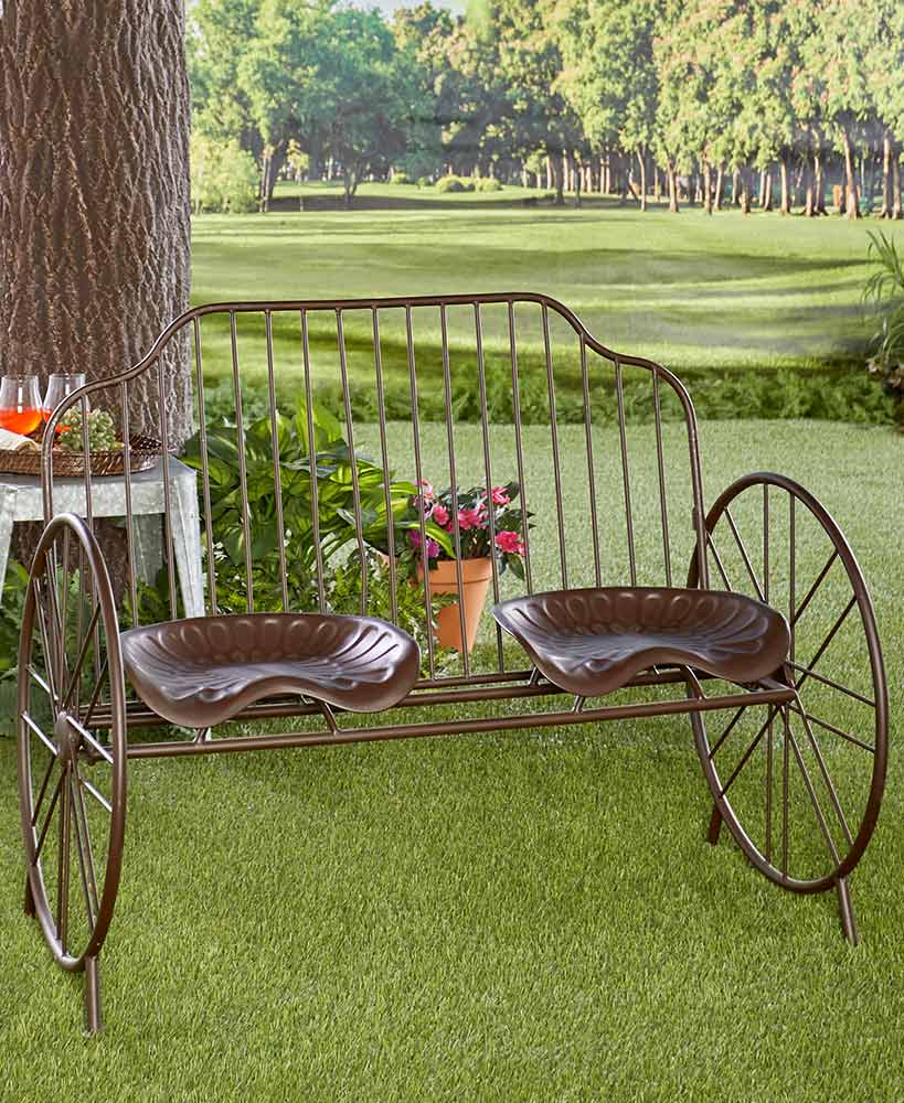 Metal Tractor Seat Bench (With Images)