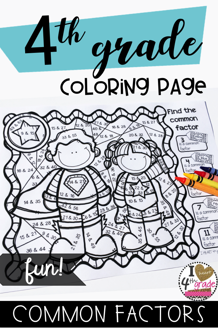 FACTOR PAIRS COLORING PAGE My Math Classroom Factors