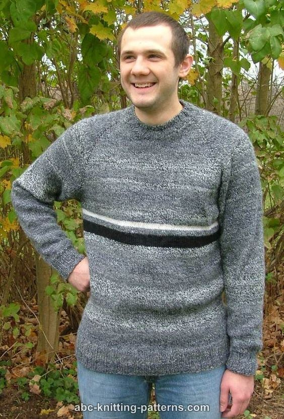 Abc Knitting Patterns Mens Top Down Raglan Sweater Crochet