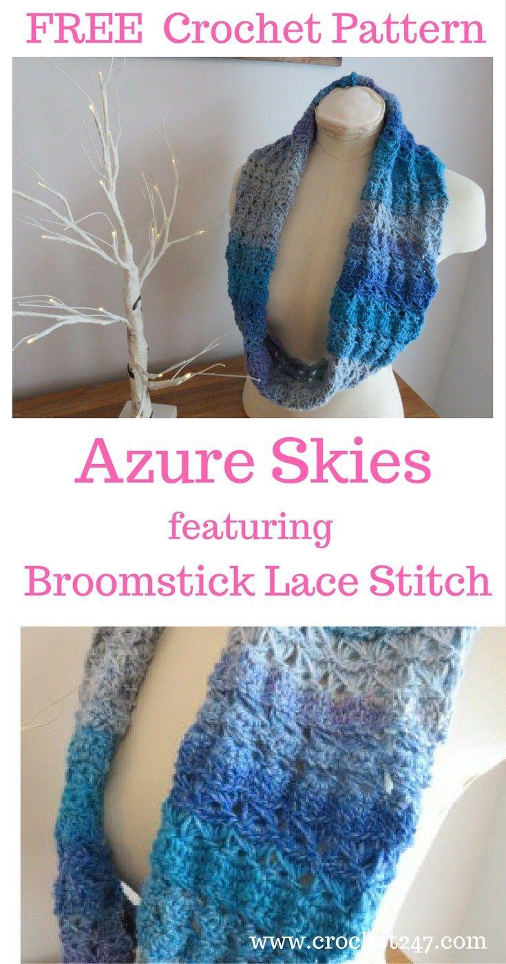 Azure Skies Crochet Cowl Pattern | Cordones