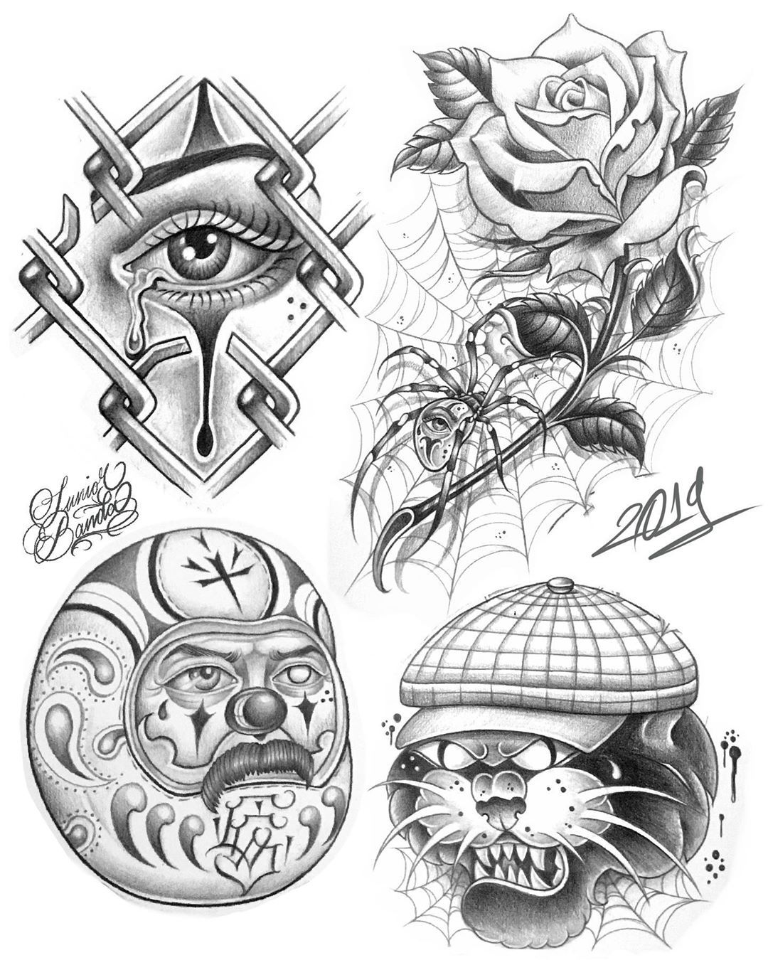 Do Not Copy Please Disenos Disponibles Available Designs At Masterinktattoostudio1 Nag Chicano Art Tattoos Chicano Style Tattoo Chicano Tattoos