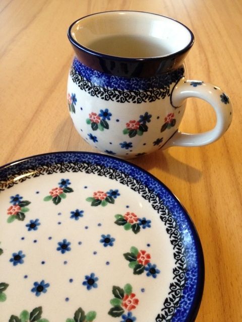 Ready for a breakfast :) Polish pottery