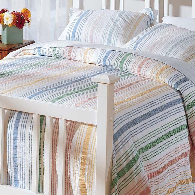 delightful Orvis Comforter Part - 3: Just found this Bedspread - Pastel Striped Seersucker Spread -- Orvis on  Orvis.com!