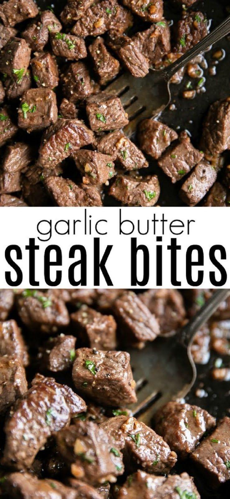 Garlic Butter Steak Bites Recipe images