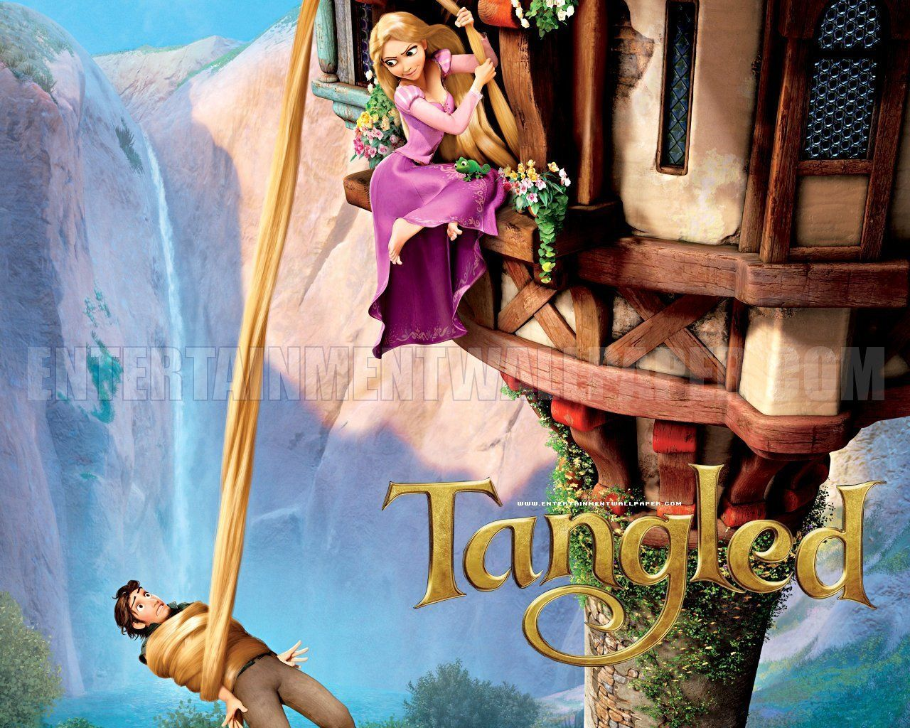 tangled disney wallpaper - princess rapunzel (from tangled