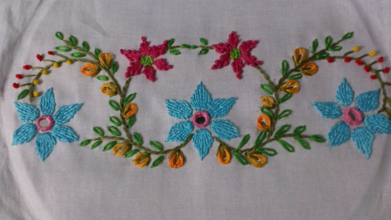 Hand Embroidery Tutorial Mirror Work Romanian Couching Stitch Design Embroidery Techniques Embroidery Tutorials Basic Embroidery Stitches