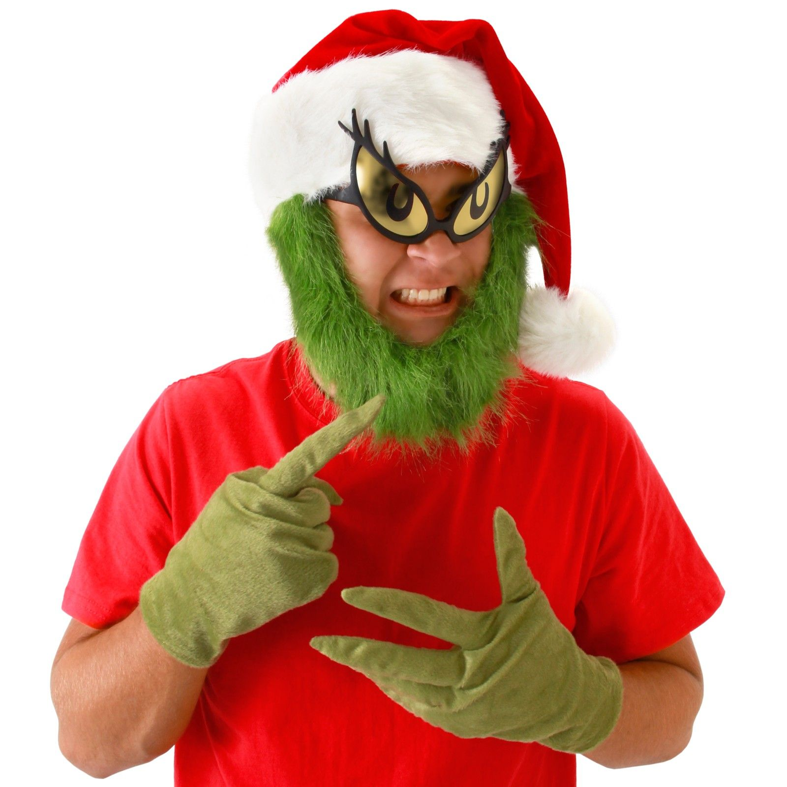 Dr Seuss Grinch Hat With Beard Adult