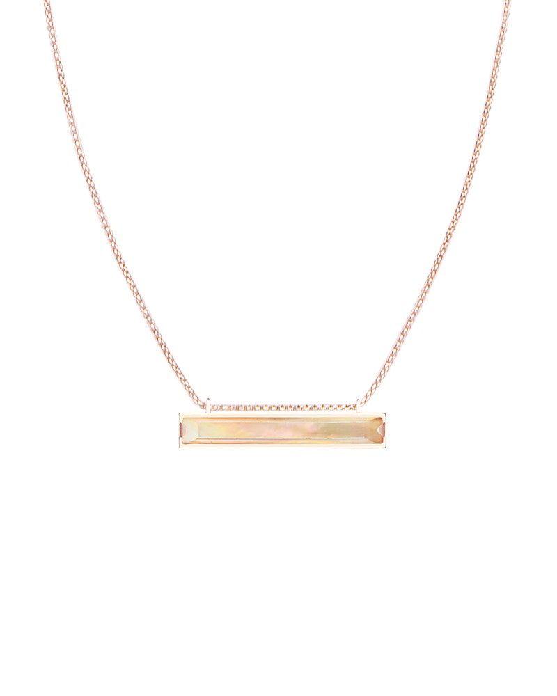 Kendra Scott Shelton Yellow-Golden Bar Necklace PgdLaEUL