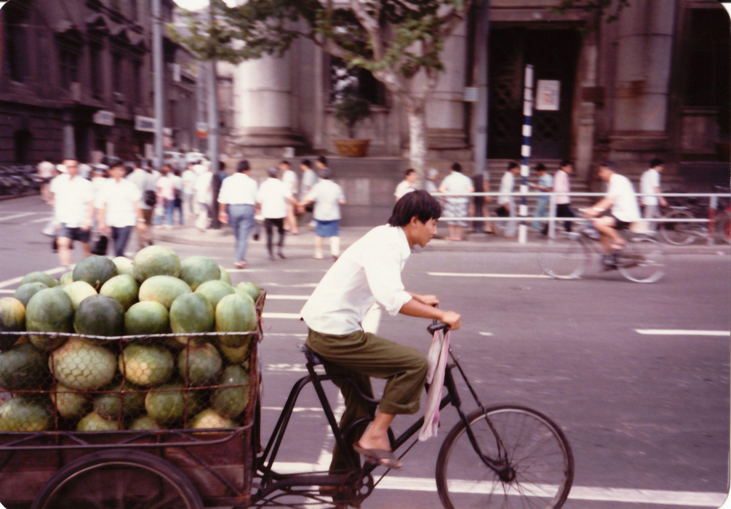Melons to market. Beijing.