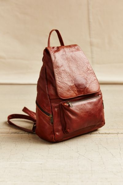 339a22bcffa Urban Renewal Recycled Leather Backpack - Urban Outfitters   Vintage ...