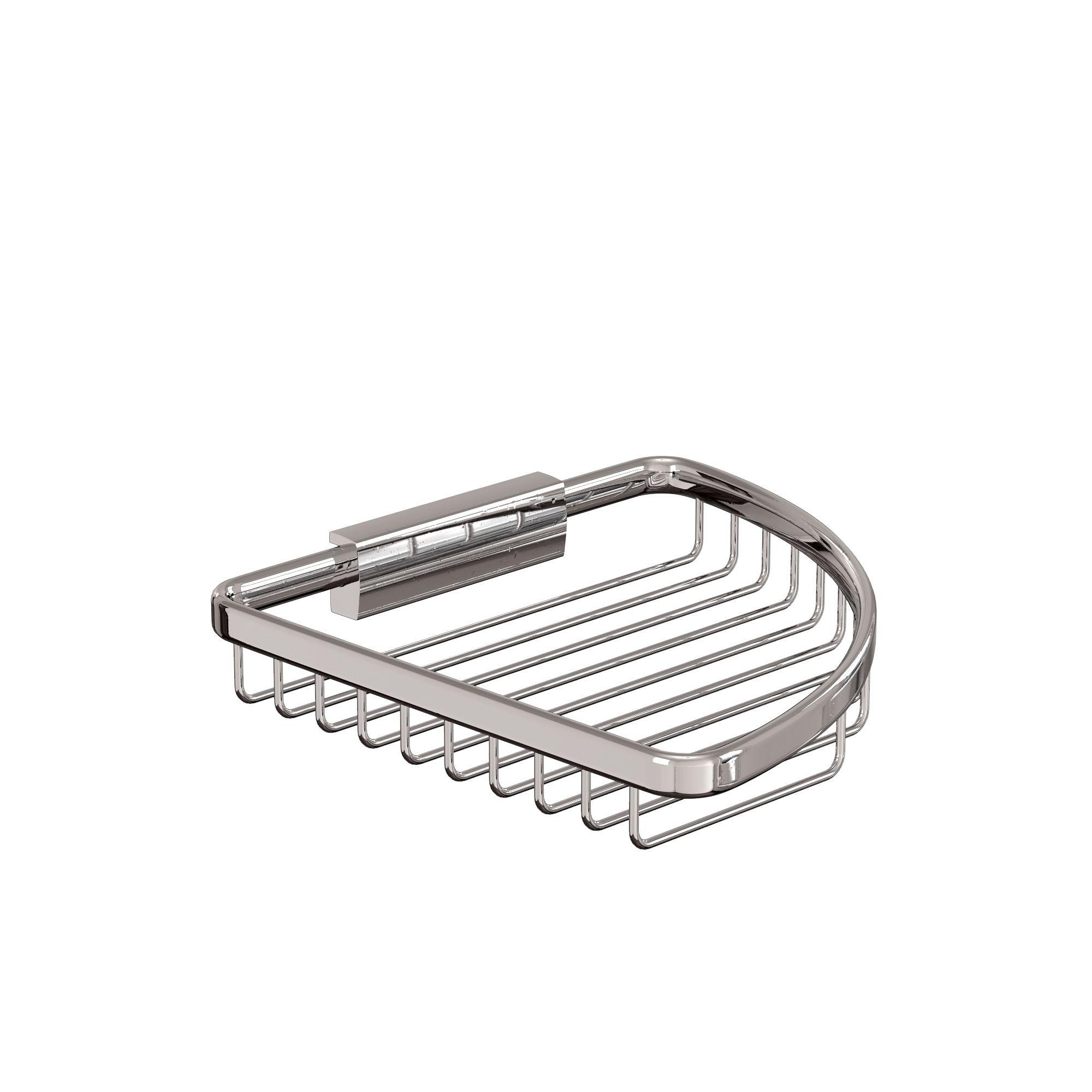 Large corner wire basketPrice:  £ 49  Code: A32 CHR  A32 CHR  Single corner wire basket, right installation 190X190X30  Size:  190 x 190 x 30  Weight:  0.4 kg #BrittonBathrooms #MyContemporaryBathroom
