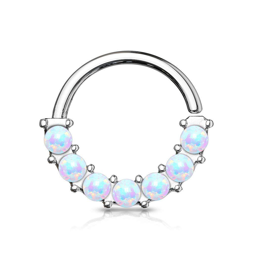 Davana Enterprises 14 GA Crescent Moon Face Dangle Belly Button Ring