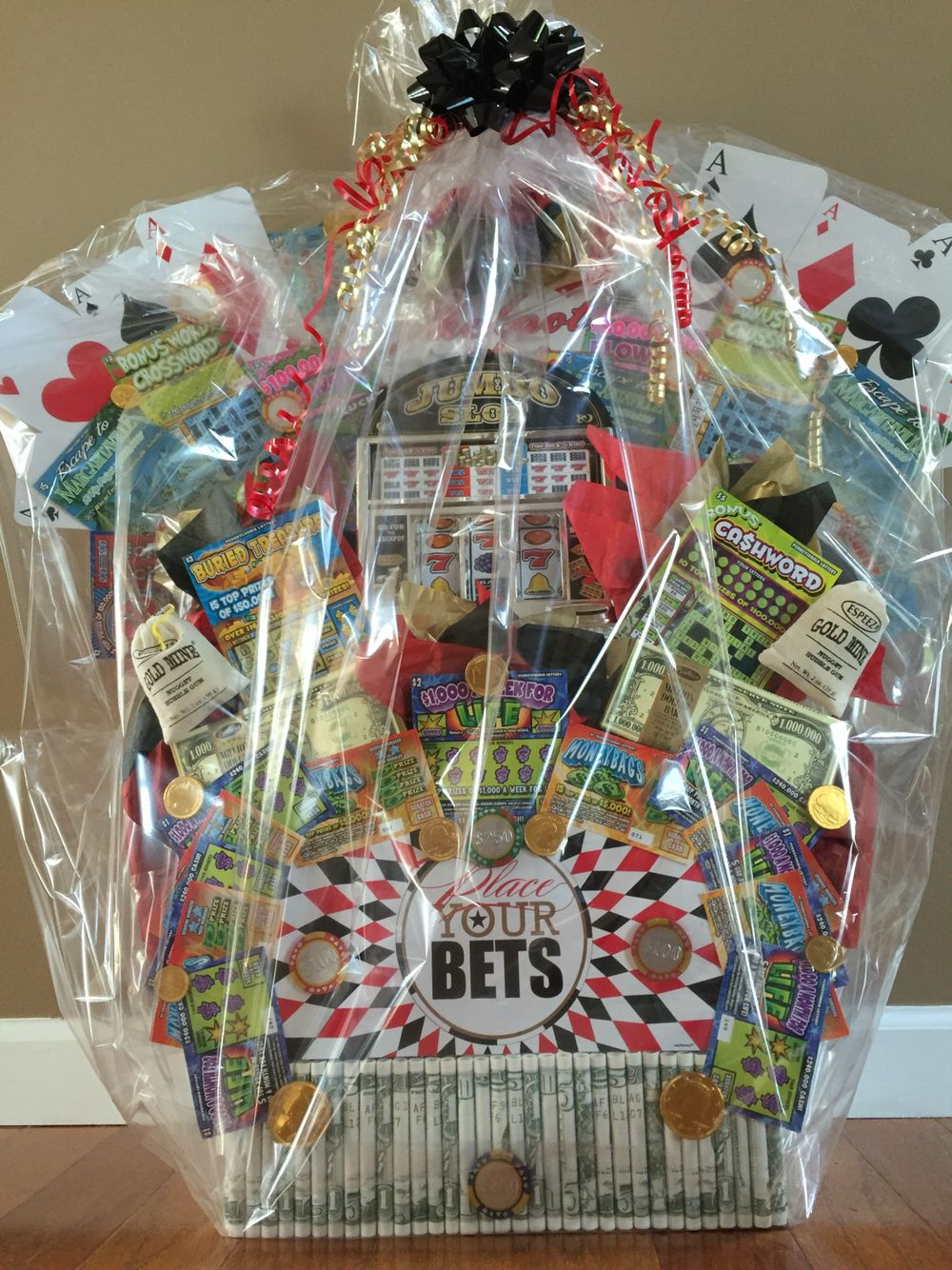 Lottery Ticket Raffle Basket Lottery Basket