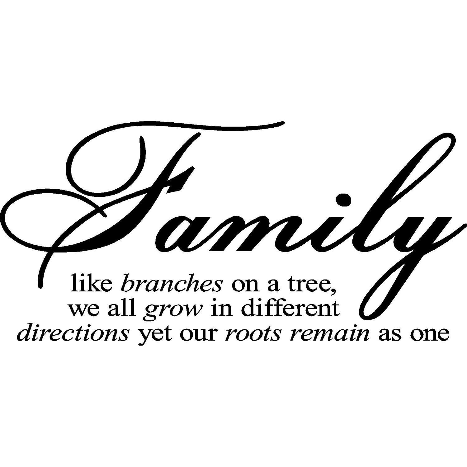 Amazoncom Family Like Branches On A Tree Vinyl Lettering Wall