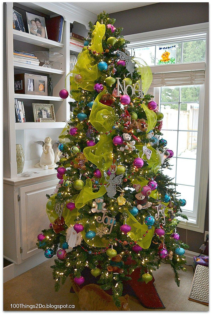 Christmas Tree - bright bold and full of colour | Holiday ...