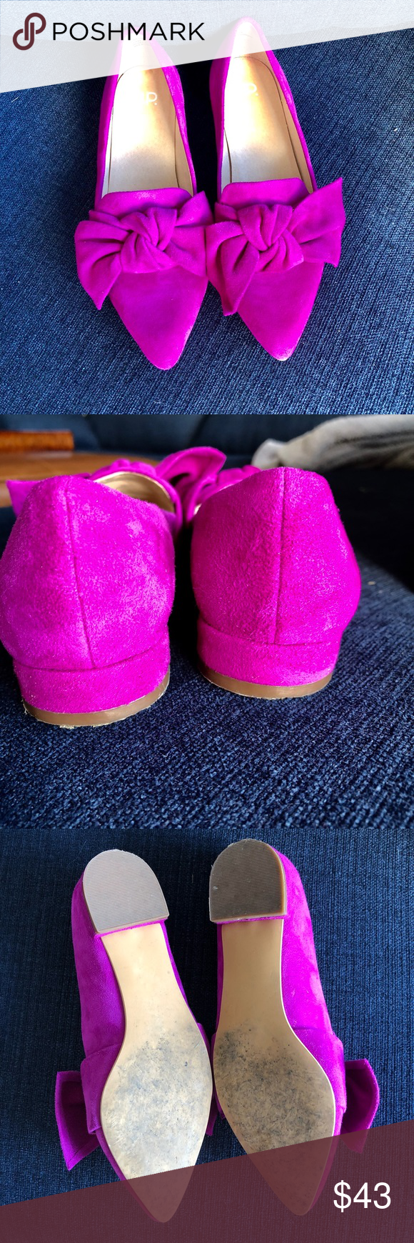 23be2260915 BP Kari bow loafer Fuchsia suede dreams make this loafer a statement shoe!  Worn once