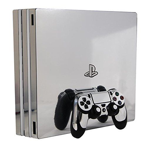 Sony Playstation 4 Pro Skin Ps4pro New Silver Chrome Mirror Vinyl