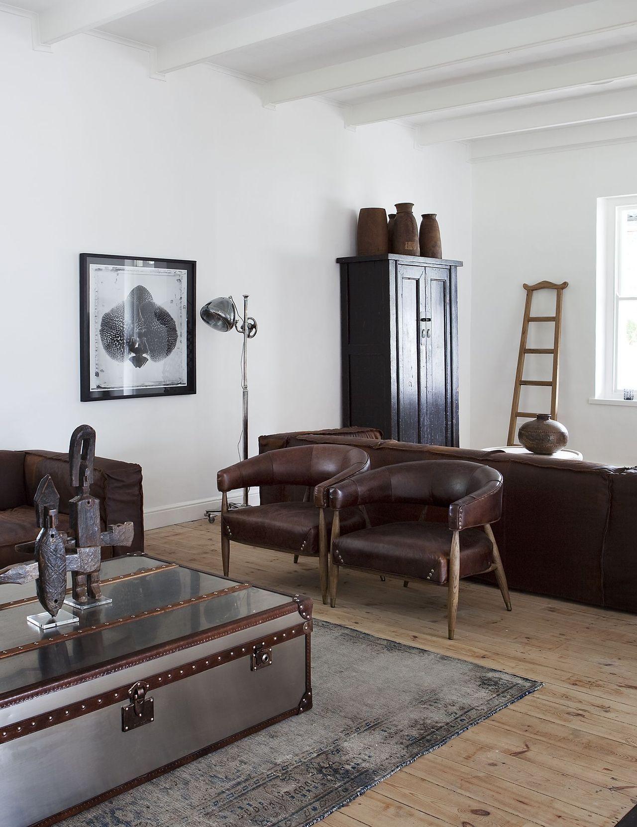 Wunderbar Leather U0026 Wood · WohnzimmerLebenEinrichtungWohnzimmerentwürfeWohnräumeKleiner  ...